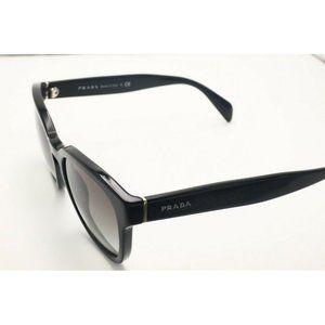 Prada Spr 17R 1AB-0A7 Cat Eye Black Sunglasses